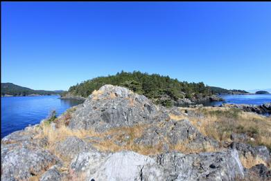 on top of islet looking towards Frazer Island