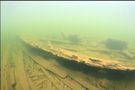 side of larger wreck
