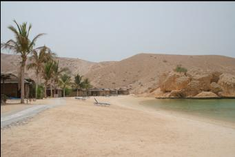 Oman dive center beach