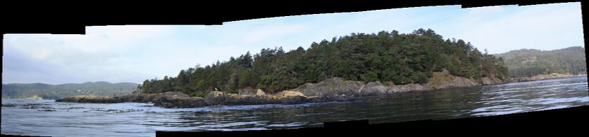 Frazer Island and South-East Islets panorama