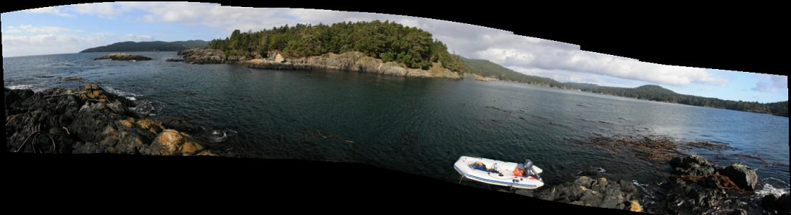 looking across to Frazer Island panorama