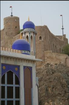 mosque and castle in Muscat