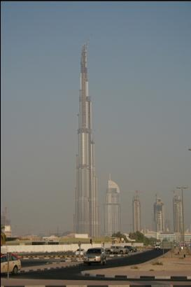 Tallest building in the world in Dubai