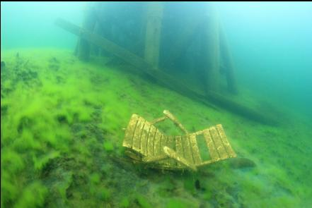 chair below the dock