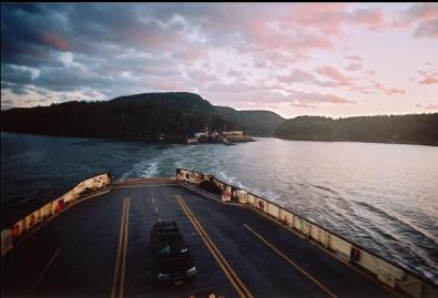 LEAVING SATURNA ON FERRY
