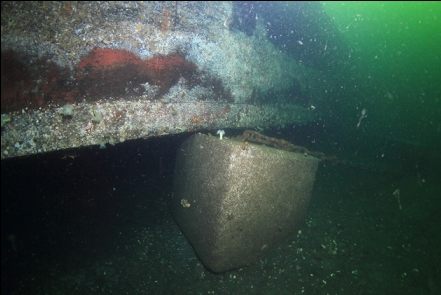 anchor block below a drydock