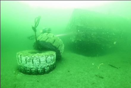 tires and a drydock corner