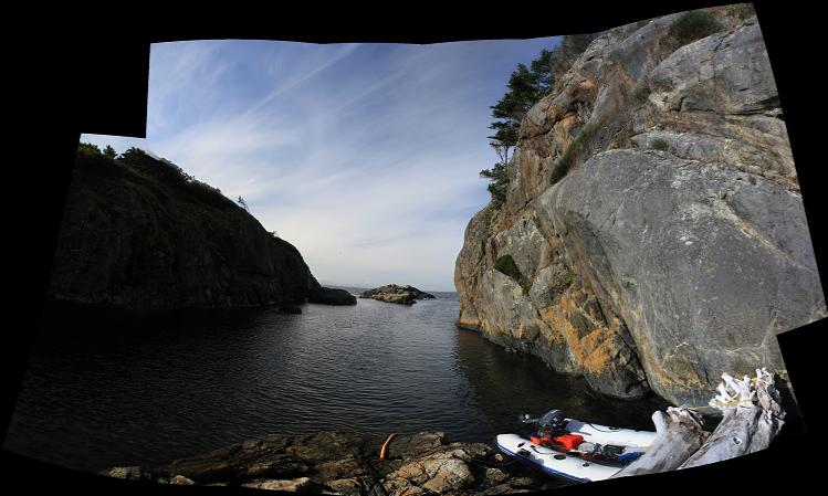 sheltered channel panorama
